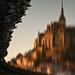 Mont Saint-Michel a tengerben tükröződve