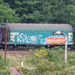 kísérletek, graffitis vonat